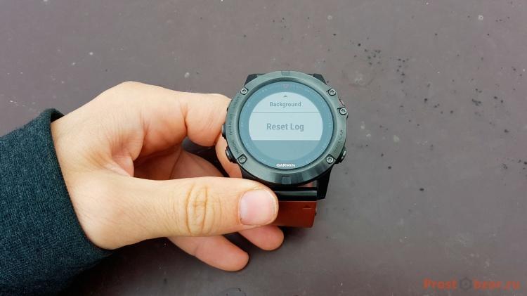 Сброс данных в часах Garmin Fenix 5x для виджета Battery Gauge