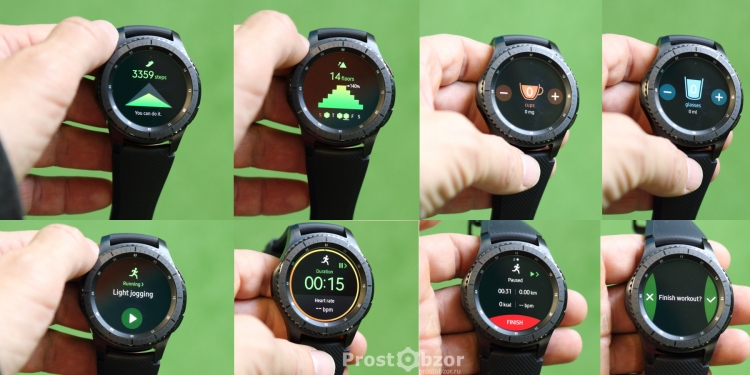 Фитнесс-активности в часах Samsung Gear S3 Frontier