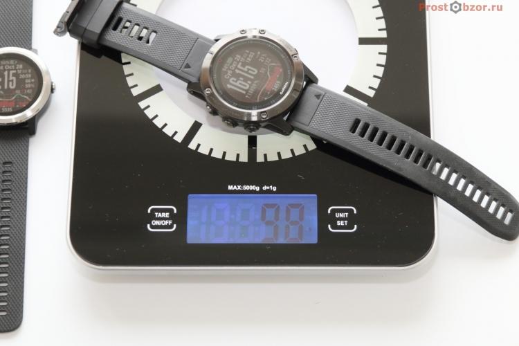 Вес часов Garmin Fenix 5X