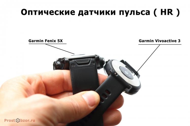 HR оптические датчики пульса в часах vivoactive 3, Fenix 5X