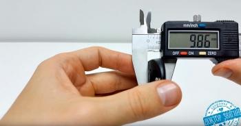 Размеры нагрудного пульсометра Polar H10