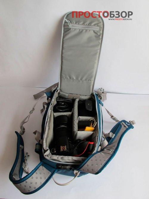 Внутренние отсеки Синий рюкзак Flipside Sport AW 10