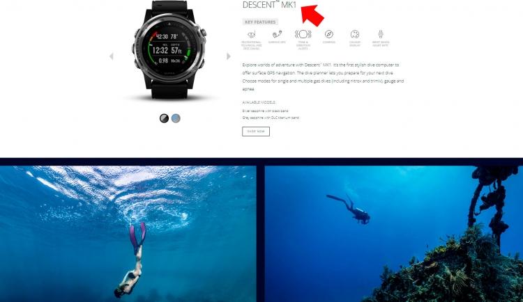 Часы для дайвинга - Garmin Descent MK1