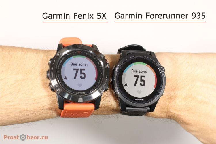 Тест 1 встроенного оптического HR датчика Garmin Fenix 5X и Garmin Forerunner 935