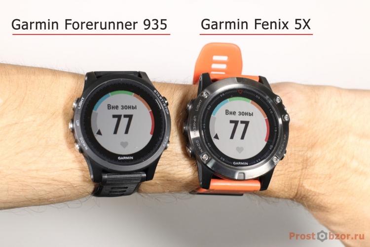 Тест 2 встроенного оптического HR датчика Garmin Forerunner 935 и Garmin Fenix 5X