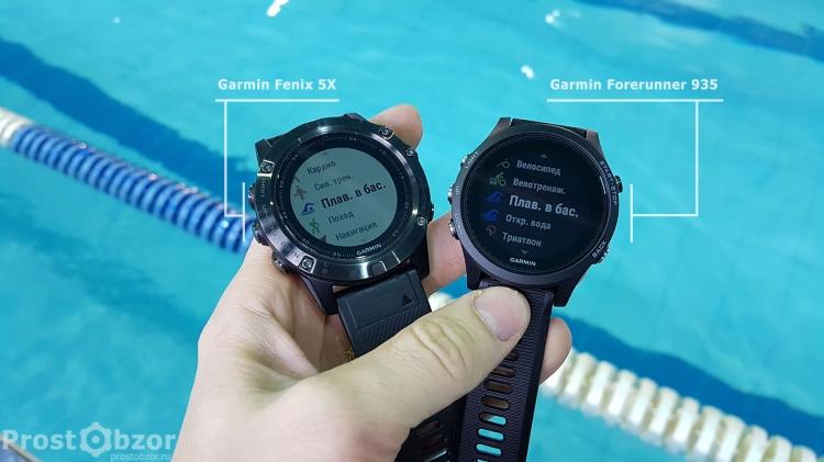 Плавание в бассейне Garmin Forerunner 935 и Garmin Fenix 5X
