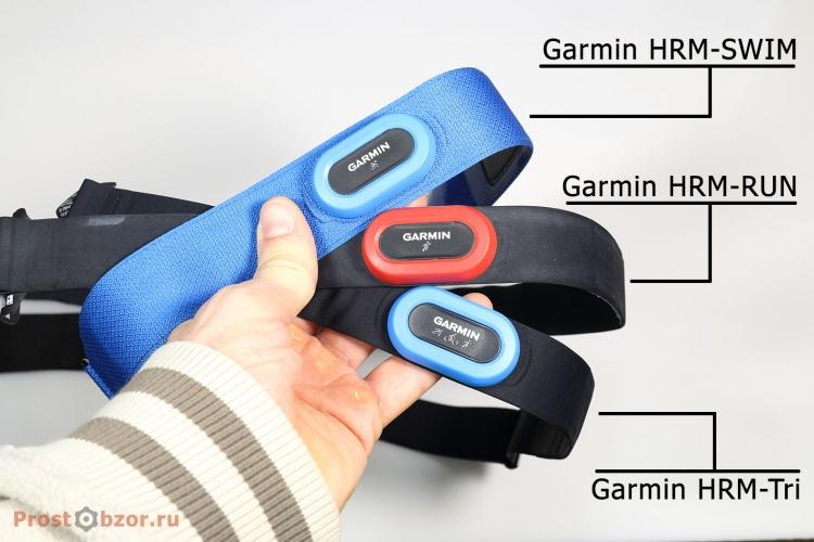 Внешние площадки нагрудных пульсометров HRM-Tri, Garmin HRM-SWIM, Garmin HRM-RUN