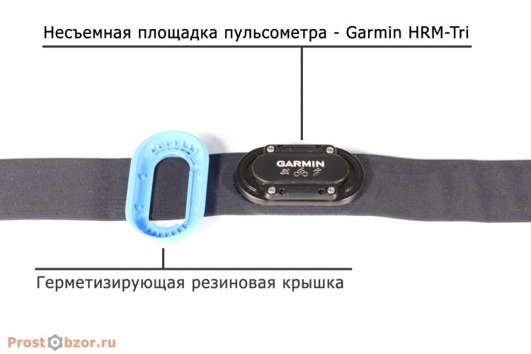 Несъемная площадка пульсометра Garmin HRM-Tri