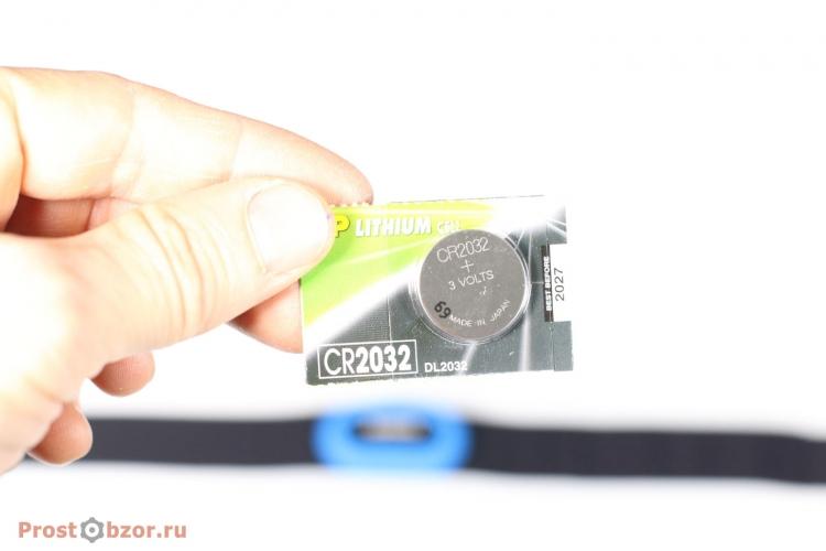 Батарейка cr2032 для пульсометра Garmin HRM-Tri