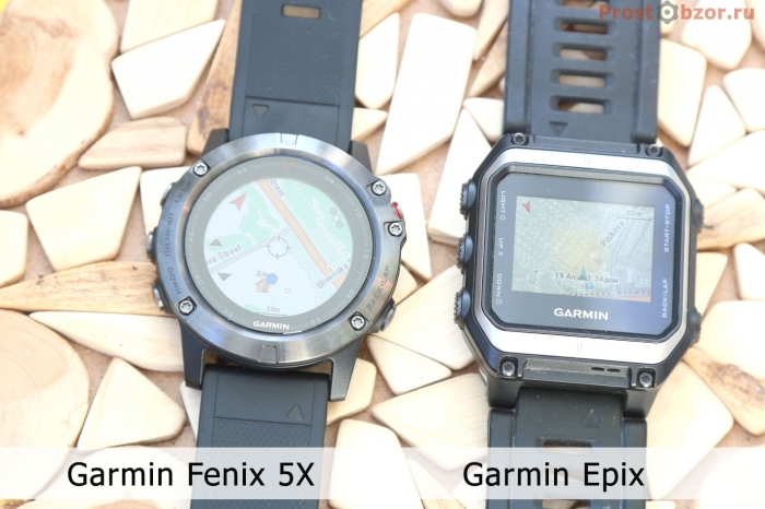 Часы Garmin с поддержкой карт - Fenix 5X, Epix