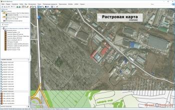 Растровая карта - фото со спутника