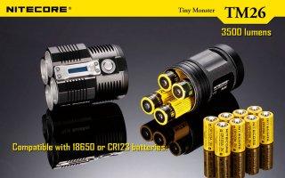 Аккумуляторные батареи фонаря Nitecore TM26