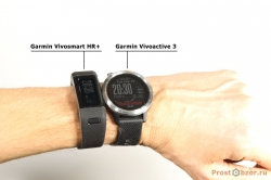 Сравнение трекера Garmin Vivosmart HR+ vs Vivoactive 3 на руке