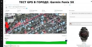 Тест записи GPS трека в городе - Garmin Fenix 5X