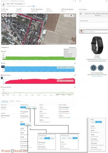 Тест HR-датчика при беге для трекера Garmin Vivosport