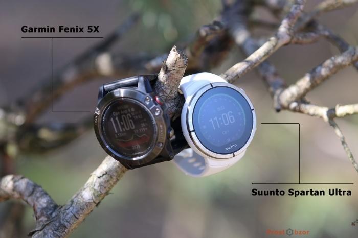 Часы в сравнении Suunto Spartan Ultra и Garmin Fenix 5X