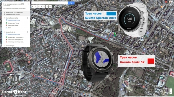 Режим GPS - тест поездки на авто в городе