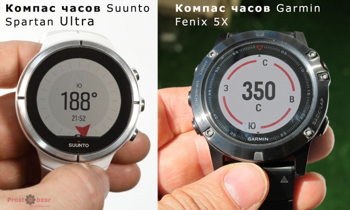 Электронный компас - Suunto Spartan Ultra и Garmin Fenix 5X