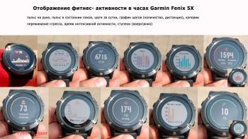 Данные активностей часов Garmin Fenix 5X
