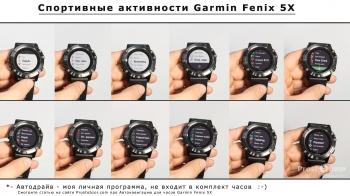 Спортивные программы в часах Garmin Fenix 5X