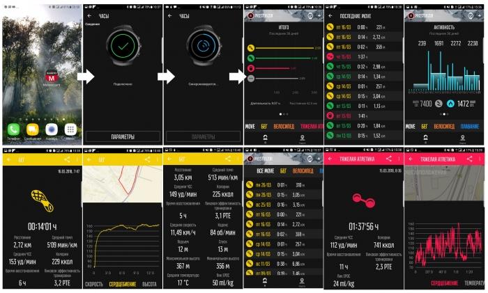 Мобильное приложения для Android - Suunto Movescount