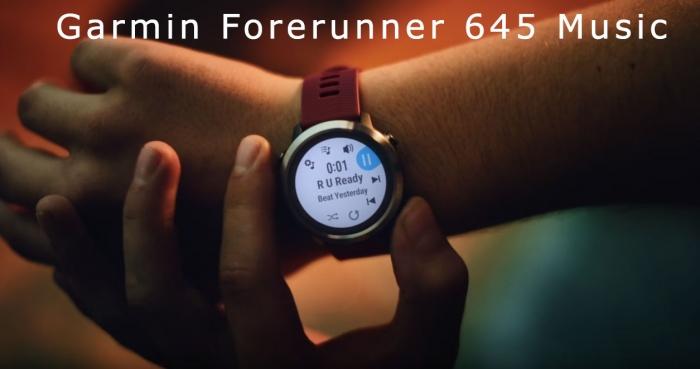 Музыкальные часы Garmin Forerunner 645 Music