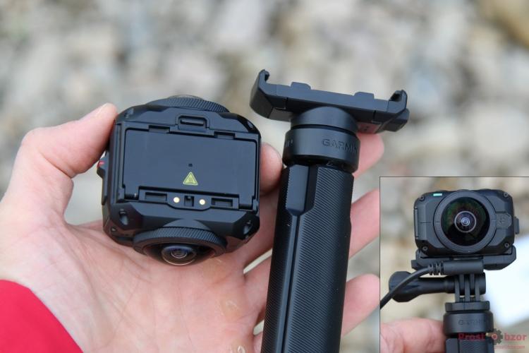 Зарядные контакты камеры Garmin Virb 360