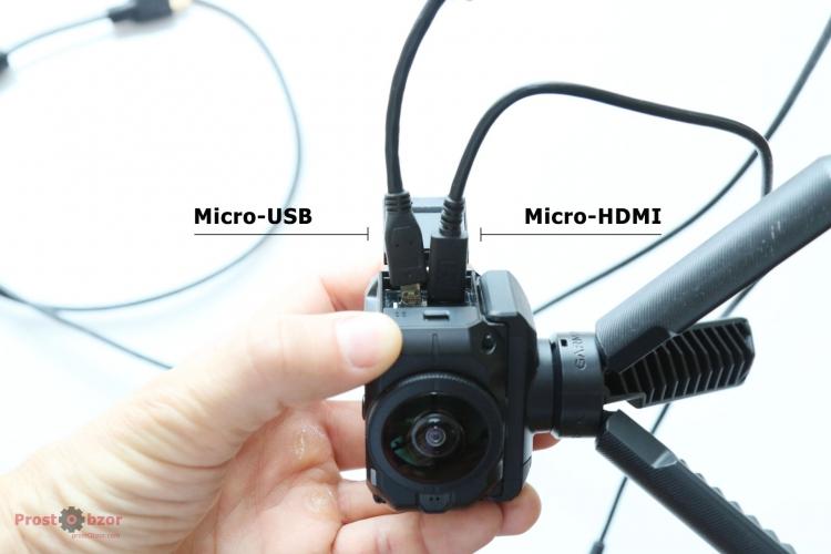 Невозможно подключить 2 кабеля одновременно в Virb 360