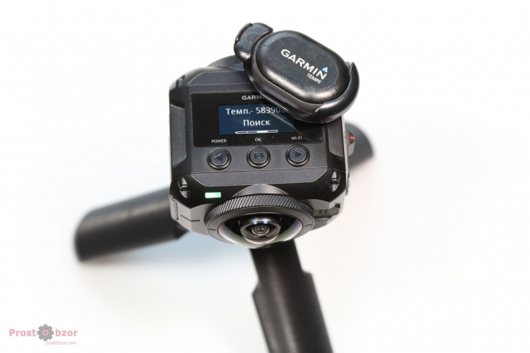 Подключение датчика Garmin Tempe к экшн-камере Garmin Virb 360