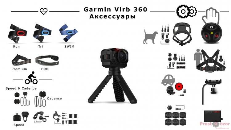 Датчики и аксессуары камеры Garmin Virb 360