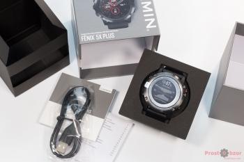 Распаковка часов Garmin Fenix 5X plus - вид сверху
