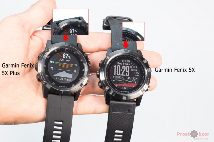 Указатель направления в часах Garmin Fenix 5X plus