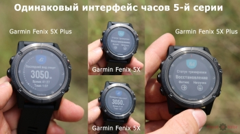 Общий программный интерфейс часов Garmin Fenix 5X plus и Fenix 5X
