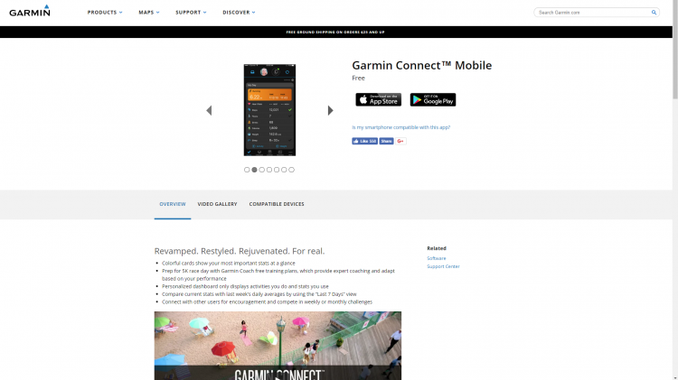 Поддержка мобильных платформ Garmin Fenix 5X plus