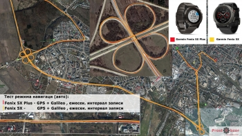 Тестирование режима GPS + Galileo - запись в авто