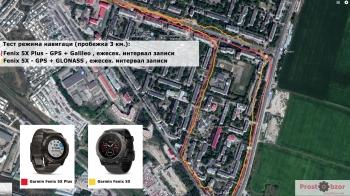 Тест 1 - GPS + Galileo VS GPS + GLONASS - пробежка
