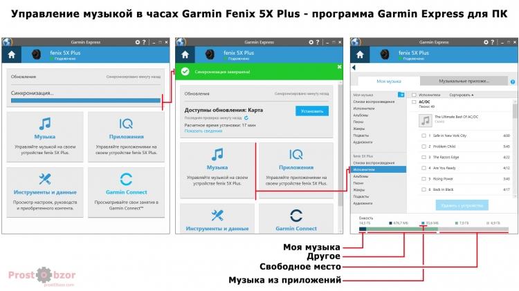 Добавление файлов в часы Garmin Fenix 5X plus  с помощью программы  Garmin Express