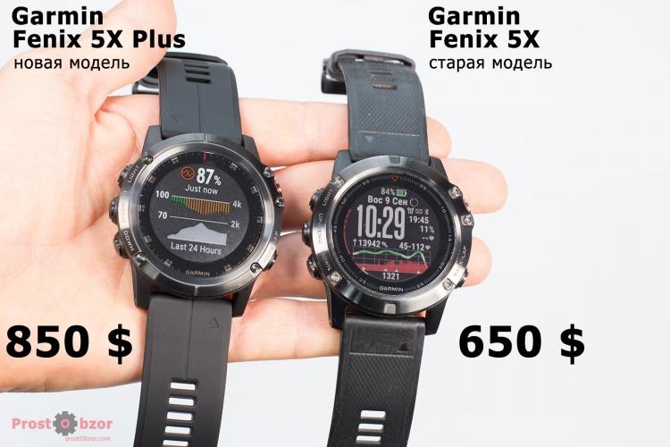 Цены на модель Fenix 5X Plus vs Fenix 5X
