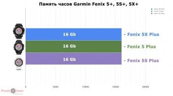 Память в моделях Garmin Fenix 5X Plus