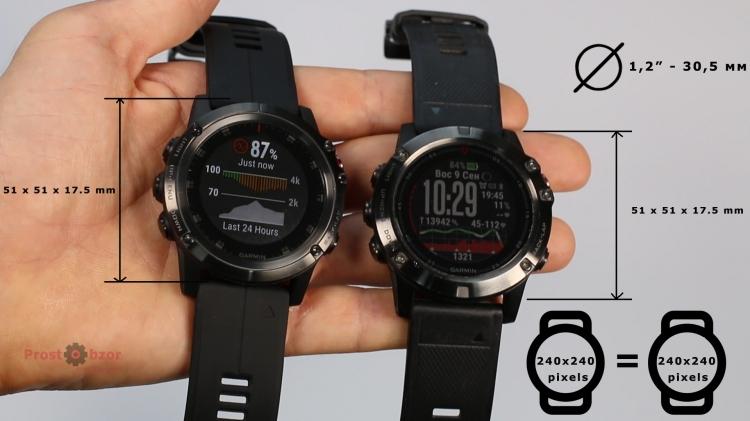 Размеры часов Garmin Fenix 5X Plus, Fenix 5X