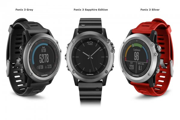 3 типа часов Fenix 3