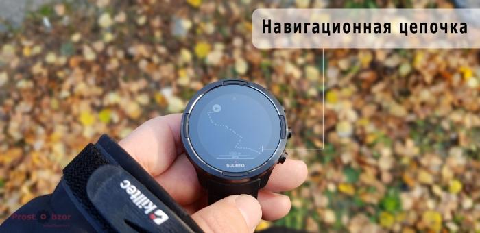 Навигационная цепочка маршрута часов Suunto 9 Baro Black