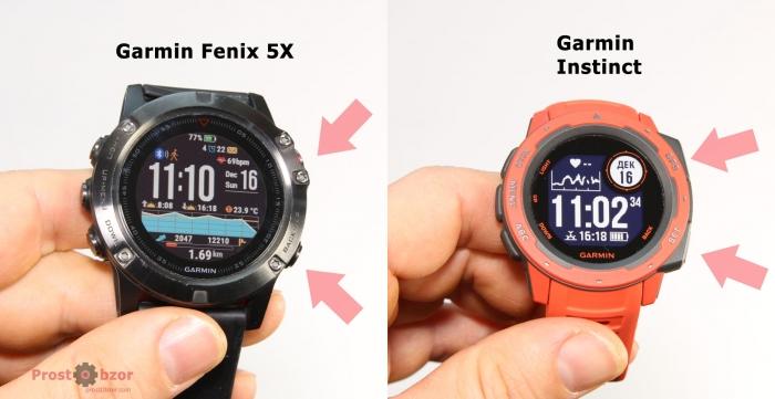 Проблема с поиском кнопок в часах Garmin Instinct