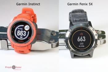 Пример интерфейса часов Garmin Instinct vs Fenix 5X -4