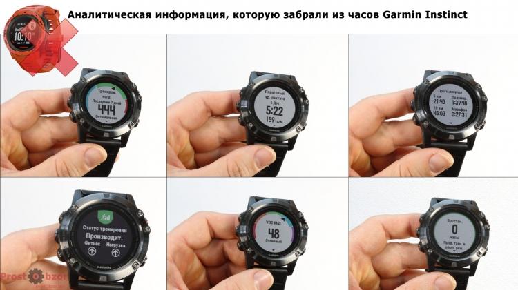 Что убрали в часах Garmin Instinct из тренировок - аналитическая информация