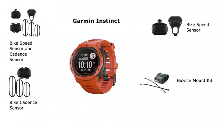 Вело-датчики для часов Garmin Instinct