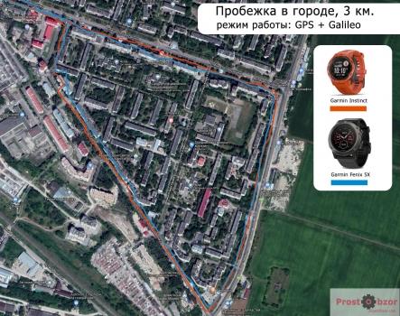 тест Garmin Instinct - GPS + Galileo - пробежка по городу