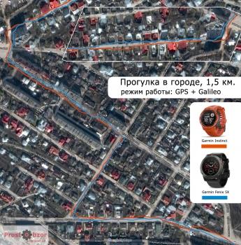 тест Garmin Instinct - GPS + Galileo - прогулка по городу
