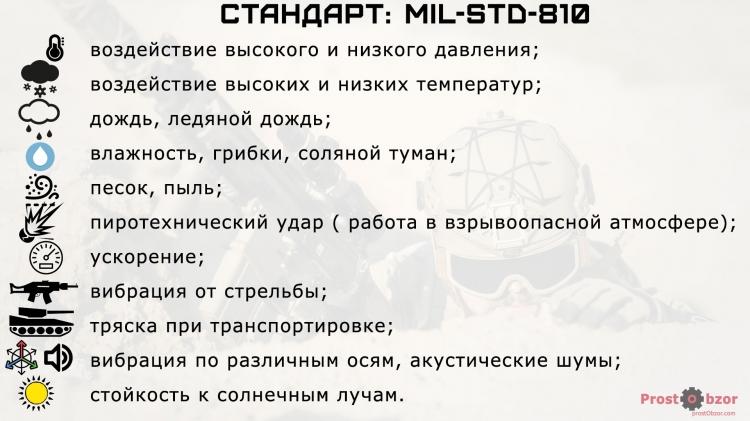 Поддержка военного стандарта США 810G MIL-STD-810  - Garmin Instinct