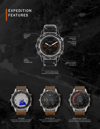 Спецификация часов Garmin MARQ Expedition